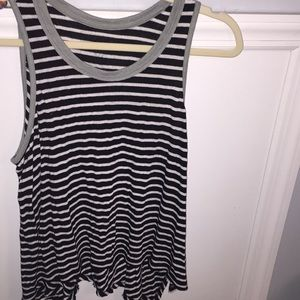 Free People striped Tank top size small